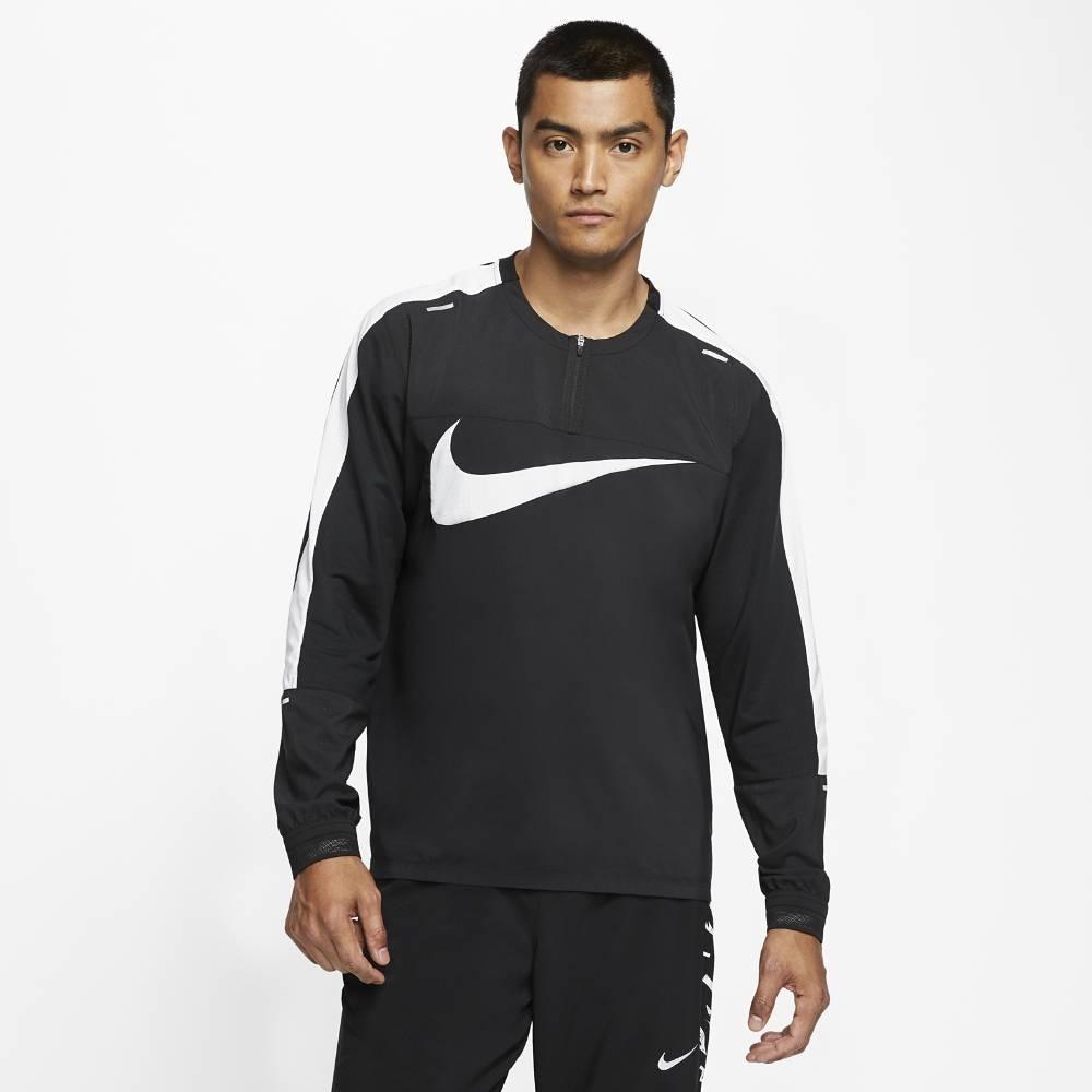 Nike Wild Run Element Langermet Løpetrøye Herre Sort