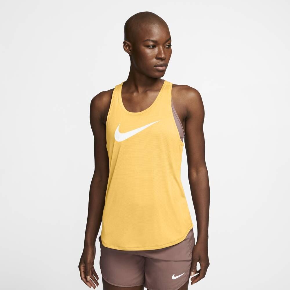 Nike Swoosh Run Løpesinglet Dame Gul