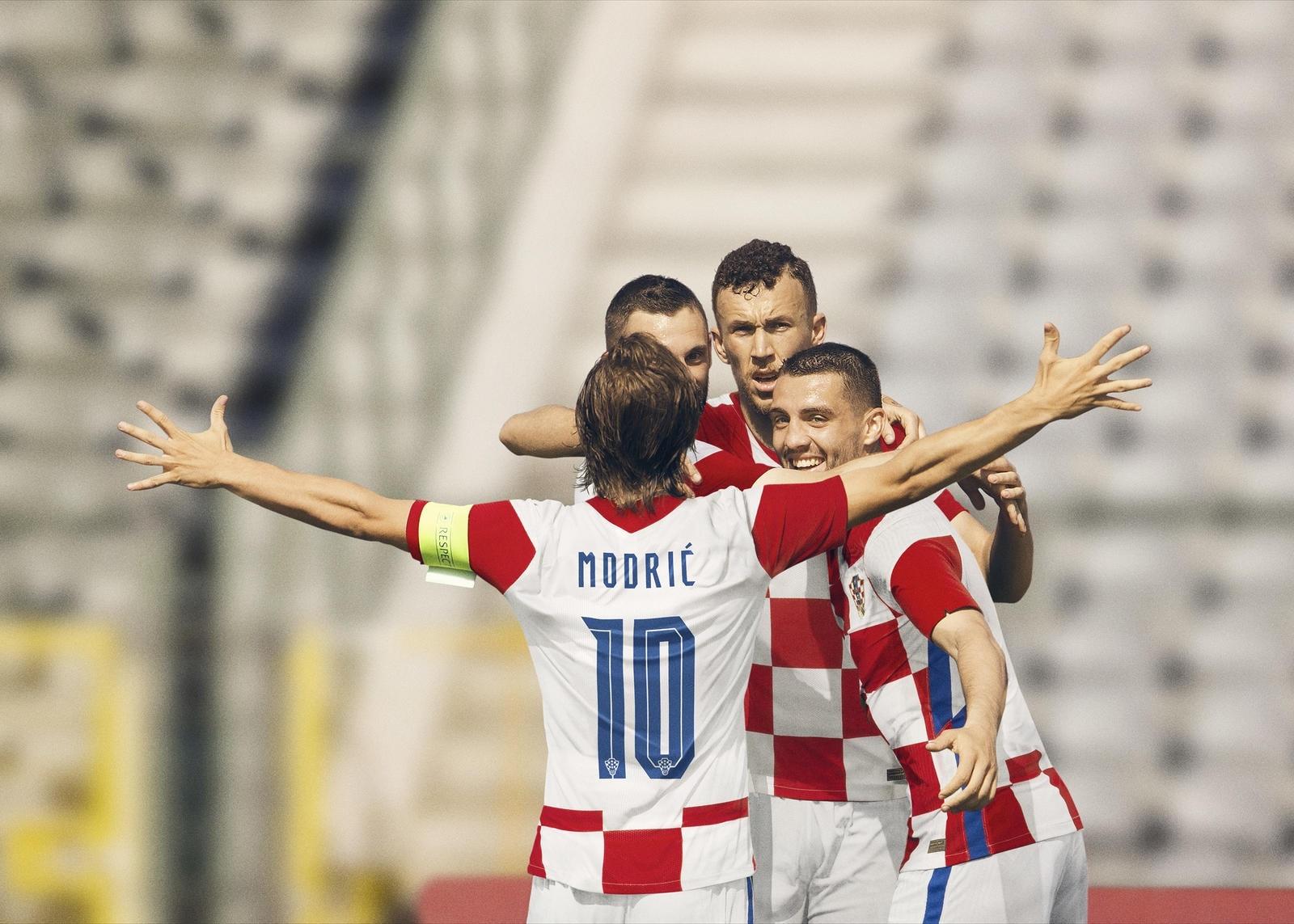 Nike Kroatia Fotballdrakt EM 2021 Hjemme Barn