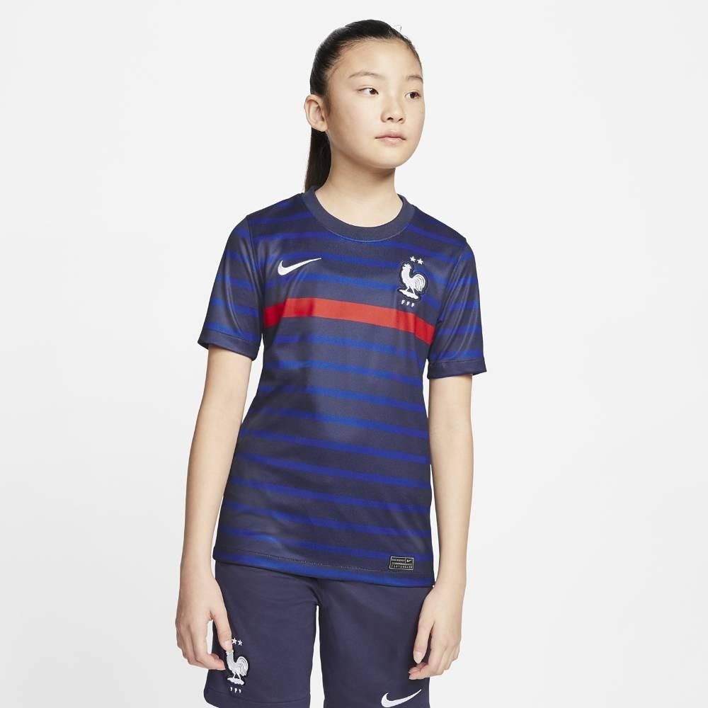 Nike Frankrike Fotballdrakt EM 2021 Hjemme Barn