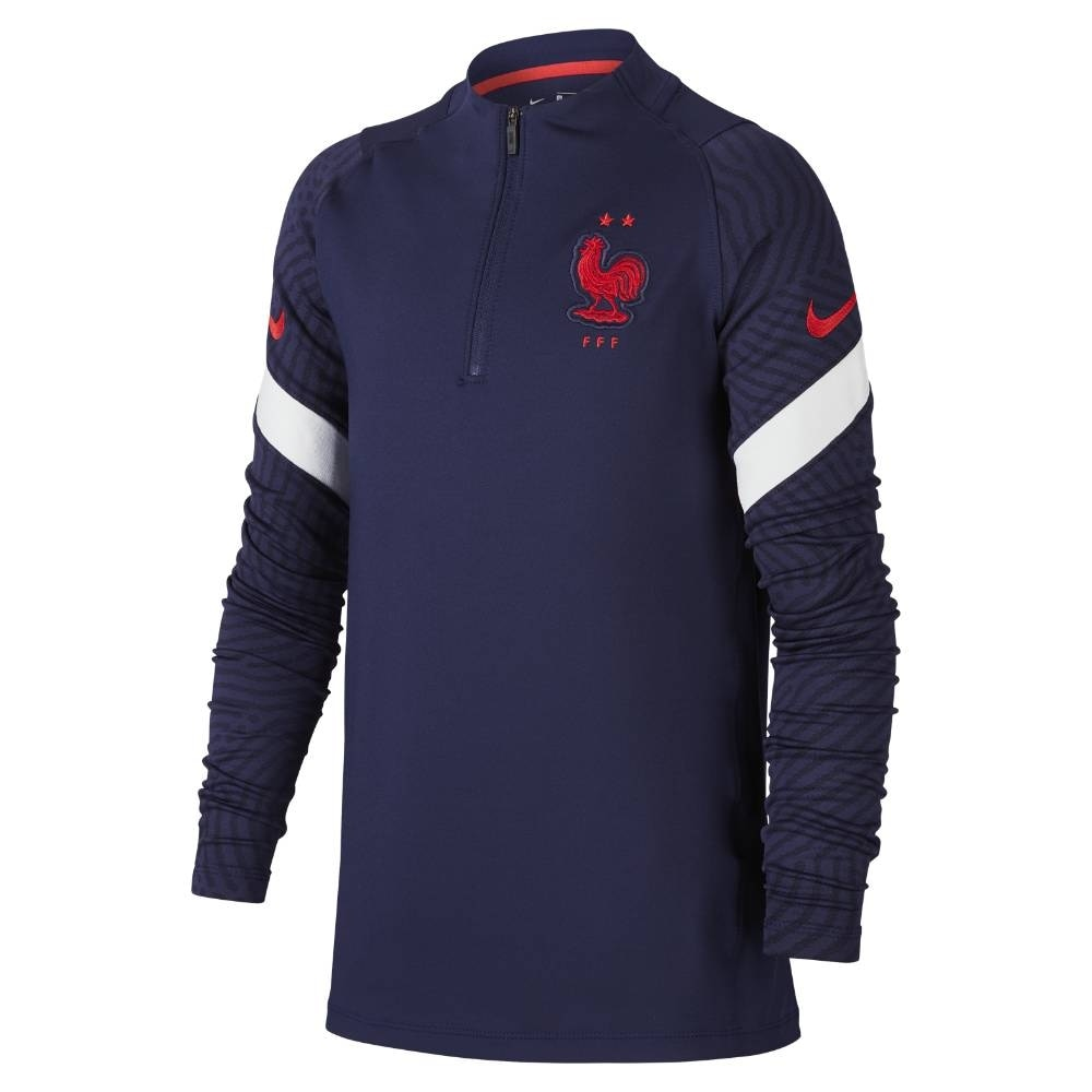 Nike Frankrike EM 2021 Fotballgenser Barn Marine