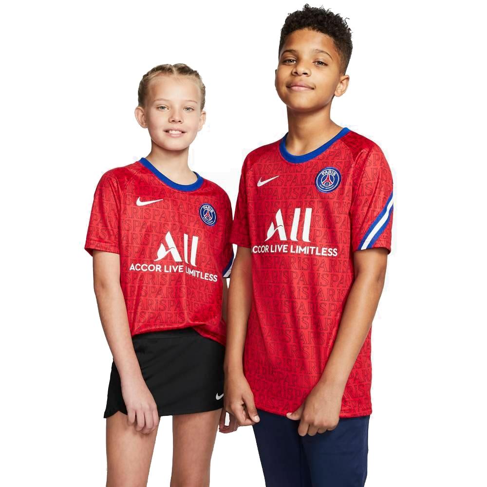 Nike PSG Pre Match Fotballtrøye 20/21 Barn Rød