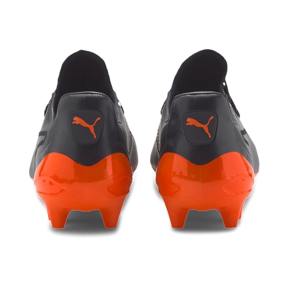 Puma King Platinum FG/AG Fotballsko Sort/Oransje