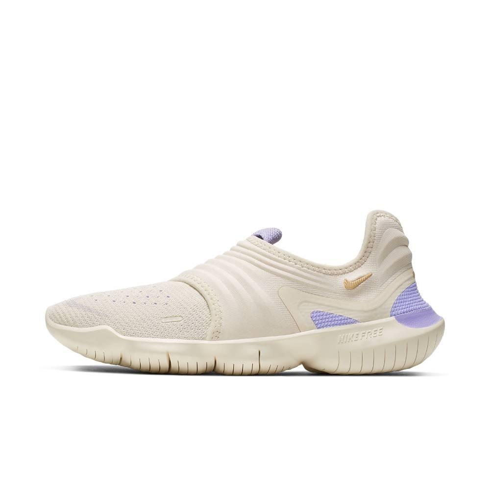 Nike Free Run Flyknit 3.0 Joggesko Dame Beige