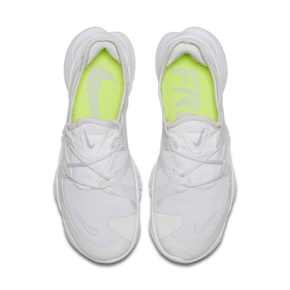 Nike Free Run Flyknit 5.0 Joggesko Herre Hvit