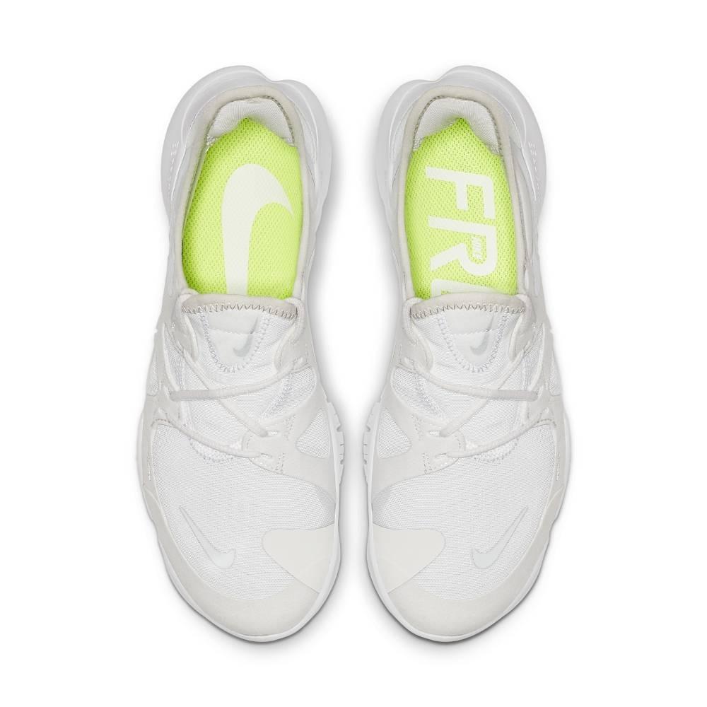 Nike Free Run Flyknit 5.0 Joggesko Dame Hvit