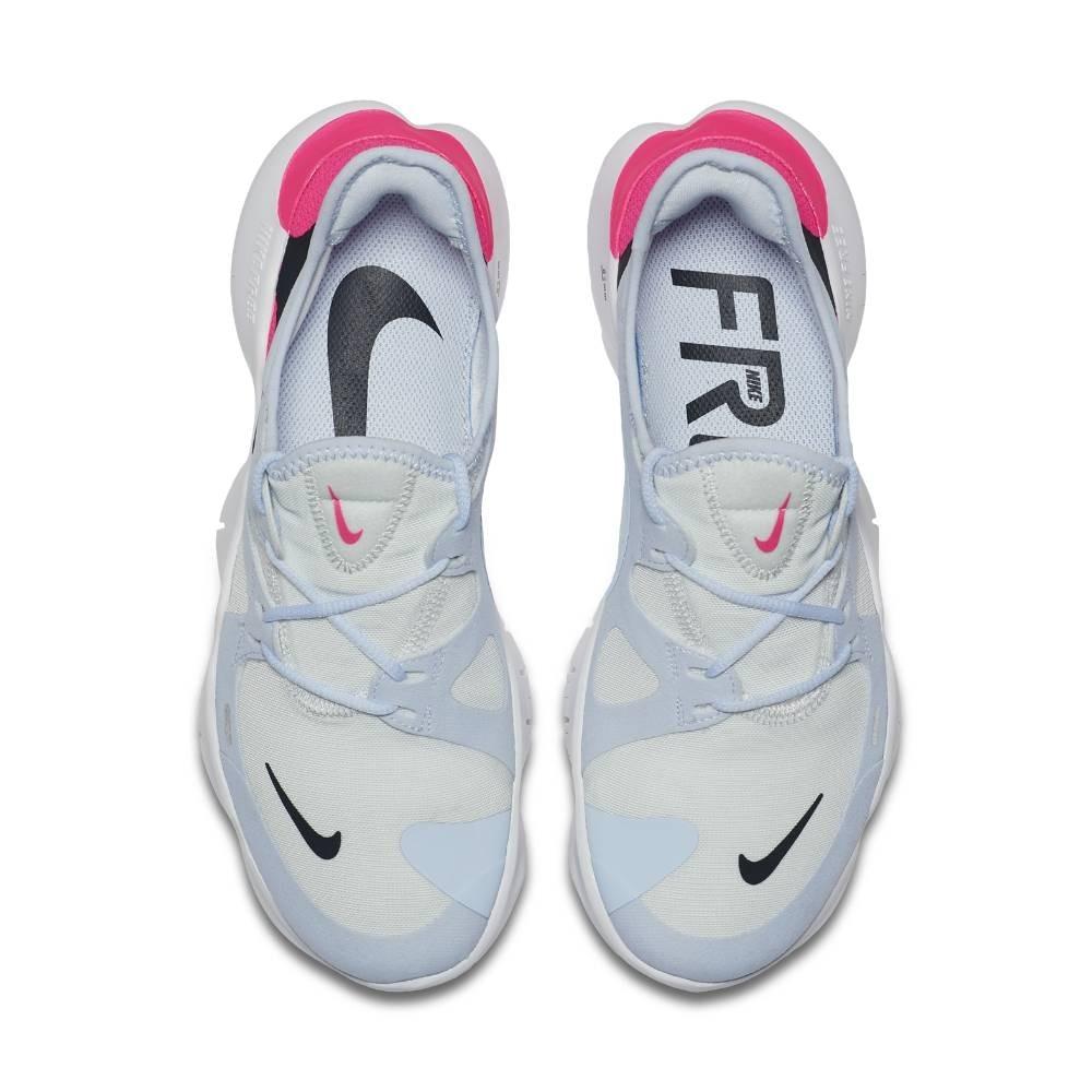 Nike Free Run Flyknit 5.0 Joggesko Dame Lyseblå