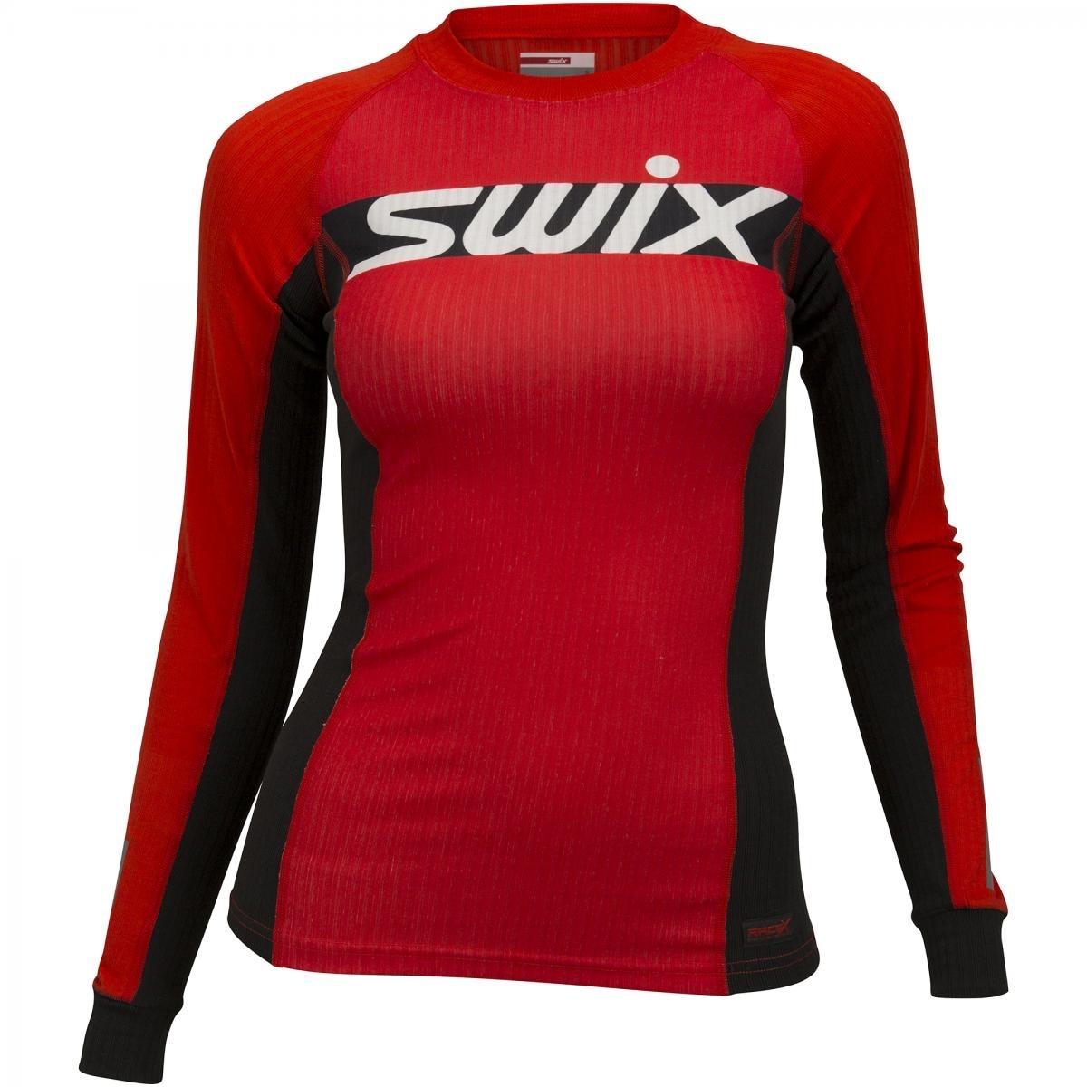 Swix RaceX Carbon Langermet Treningstrøye Dame Rød/Sort