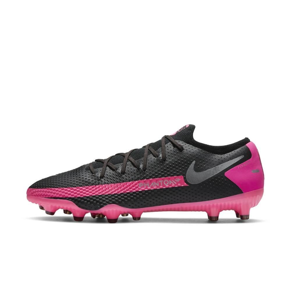 Nike Phantom GT Pro AG-Pro Fotballsko Sort/Rosa
