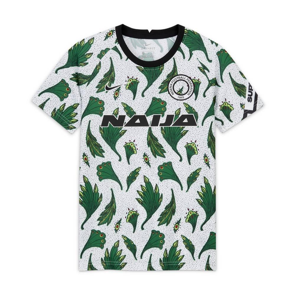 Nike Nigeria Pre Match Fotballtrøye 20/21 Hvit Barn