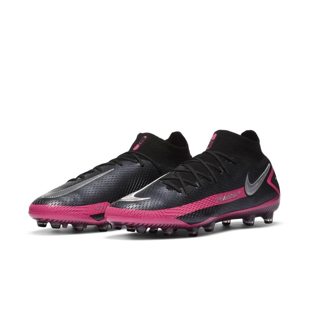 Nike Phantom GT Elite DF AG-Pro Fotballsko Sort/Rosa