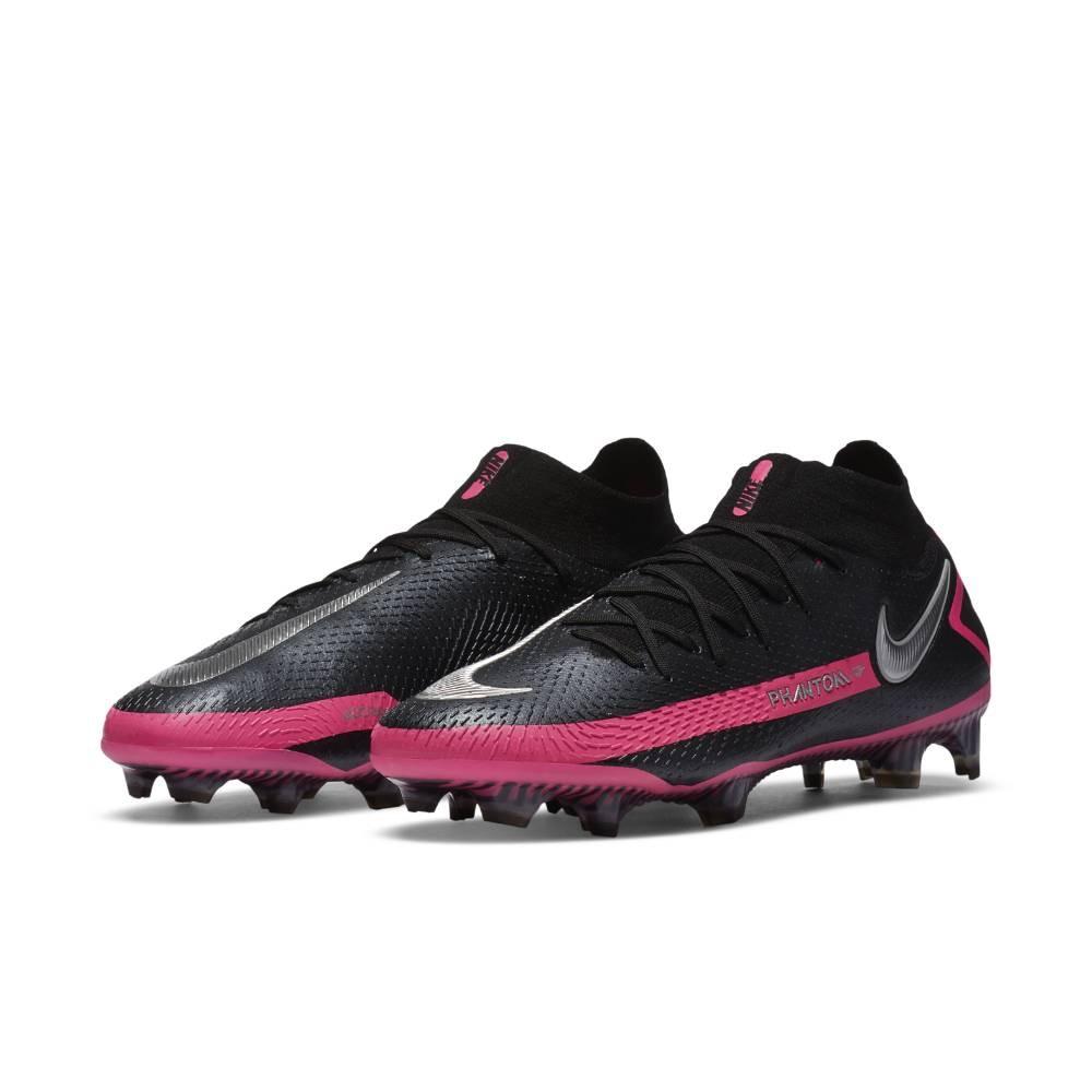 Nike Phantom GT Elite DF FG Fotballsko Sort/Rosa