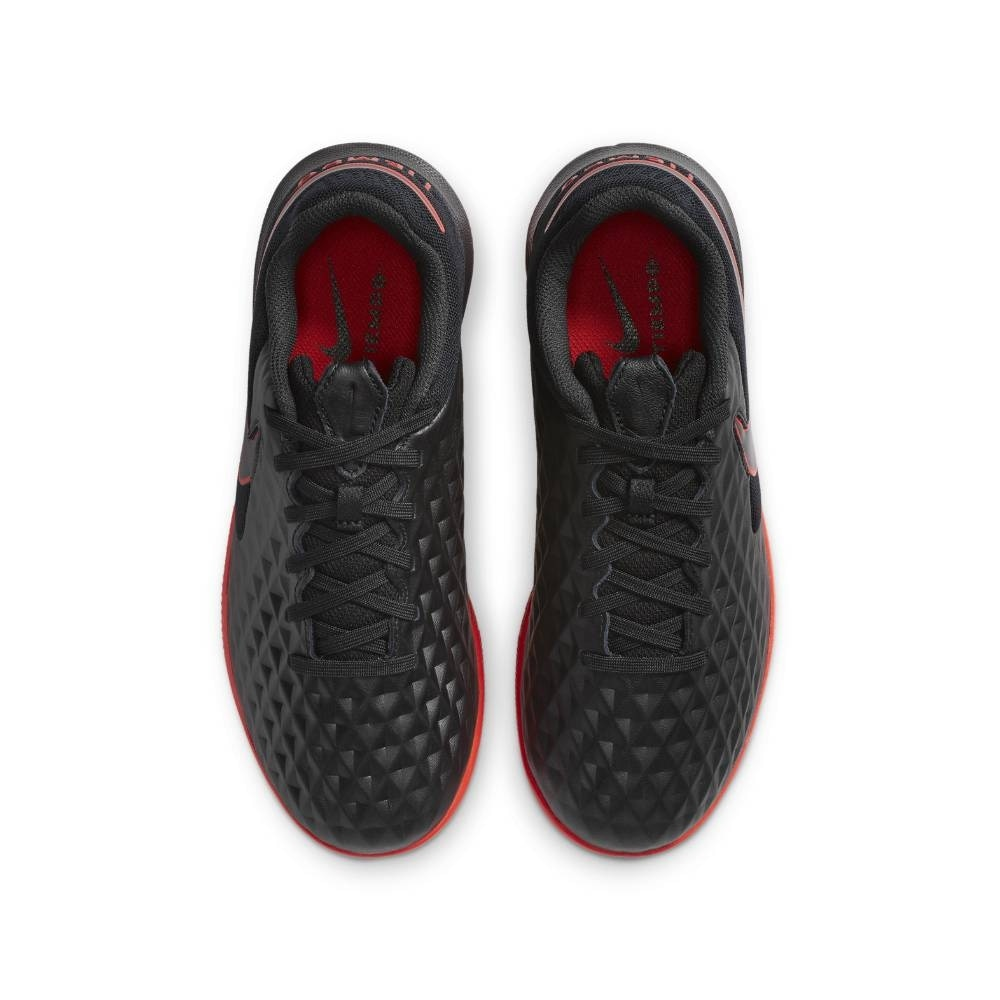 Nike TiempoX Legend 8 Academy IC Futsal Innendørs Fotballsko Barn Black x Chile Red Pack