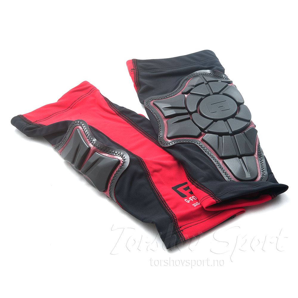 G-Form Pro-X Skin Pad Leggskinn Sort/Rød