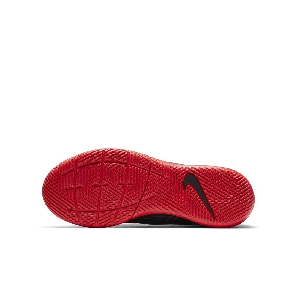 Nike MercurialX Vapor 13 Academy IC Futsal Innendørs Fotballsko Barn Black x Chile Red Pack
