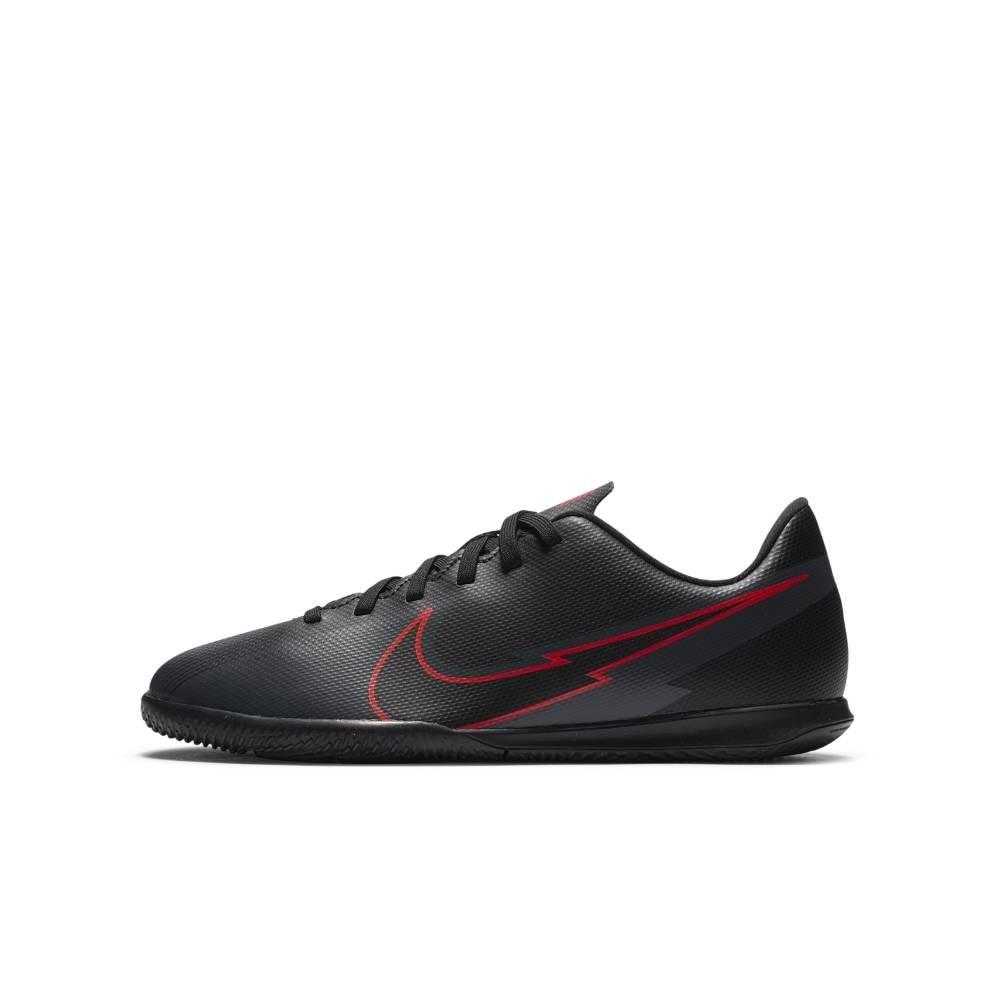 Nike MercurialX Vapor 13 Club IC Futsal Innendørs Fotballsko Barn Black x Chile Red Pack