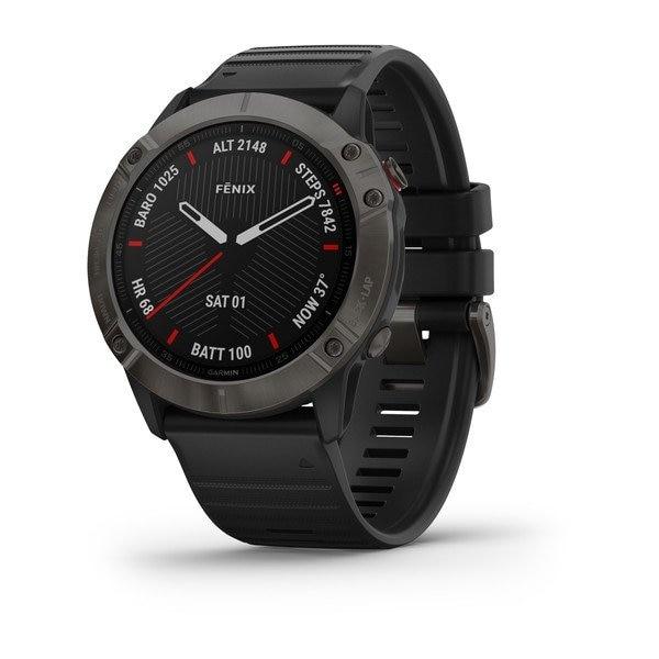 Garmin Fenix 6 X Sapphire Black band GPS Pulsklokke