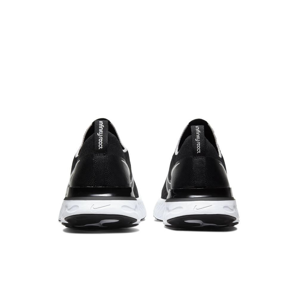 Nike React Infinity Run Flyknit Joggesko Sort/Hvit