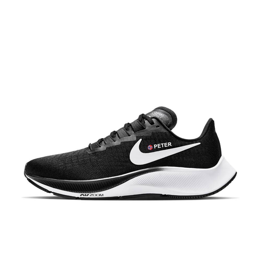 Nike Air Zoom Pegasus 37 Joggesko Dame Sort/Hvit