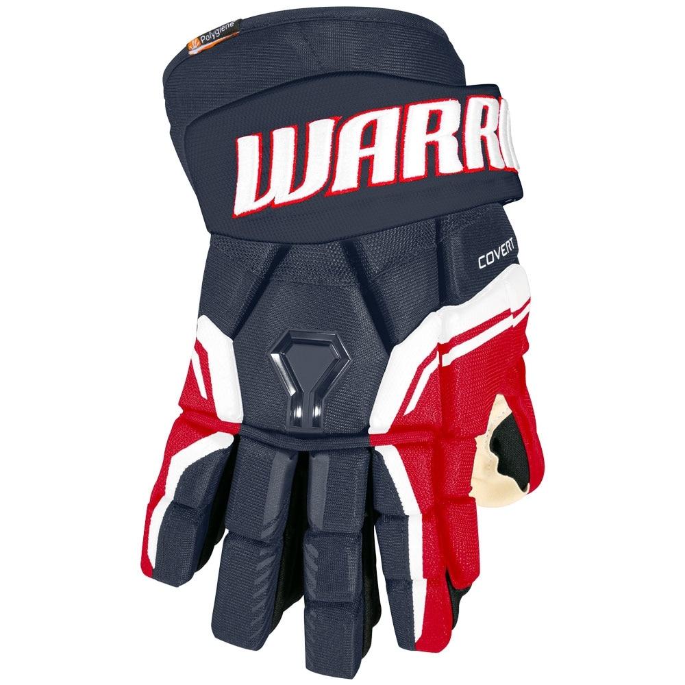 Warrior Covert QRE 20 PRO Hockeyhanske Marine/Rød/Hvit