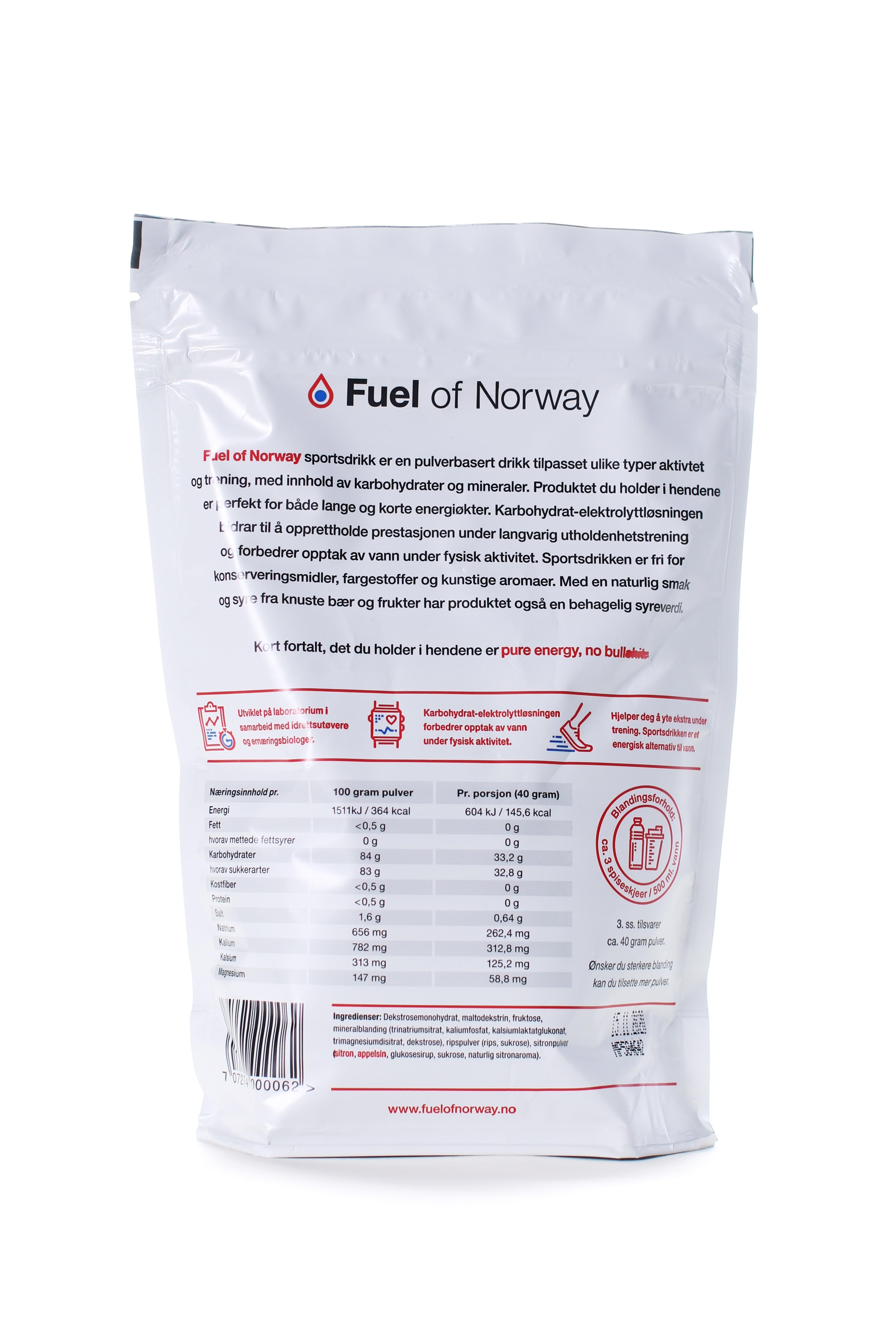 Fuel of Norway Sportsdrikke 0.5kg rips