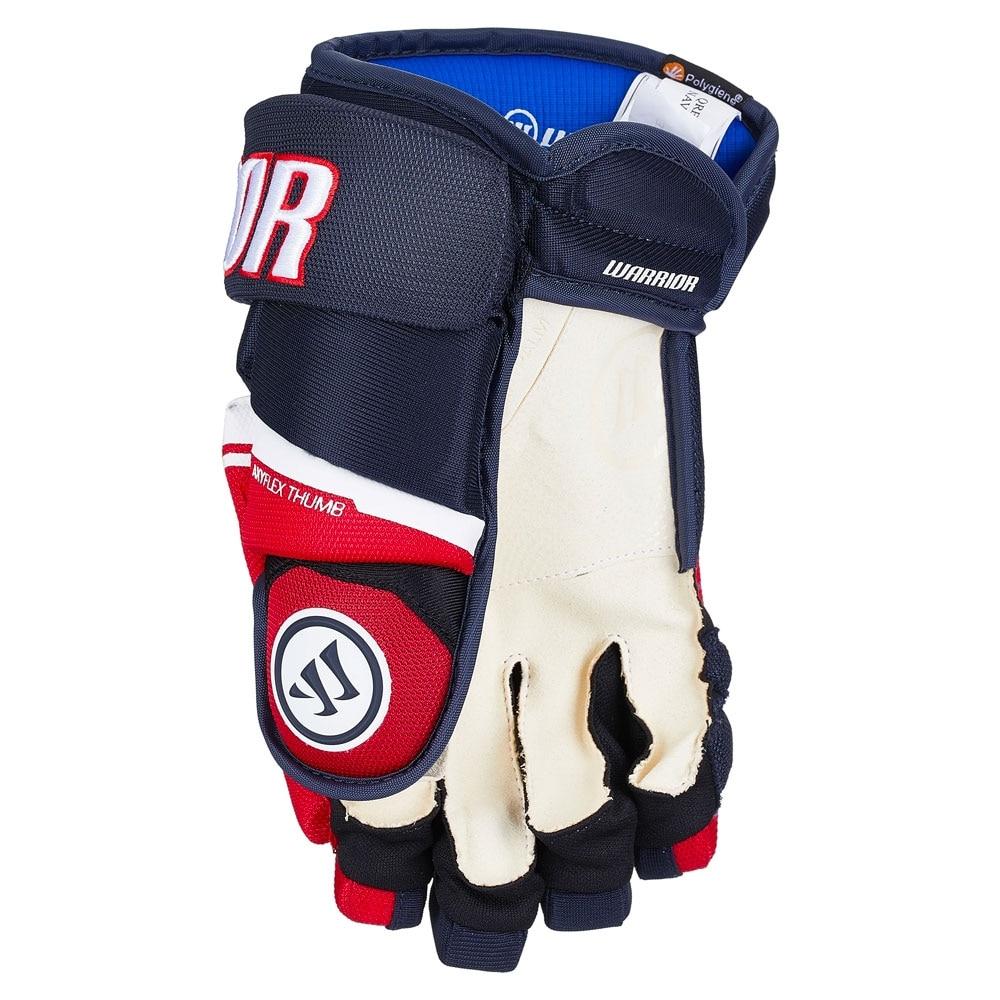 Warrior Covert QRE 20 PRO Junior Hockeyhanske Marine/Rød/Hvit