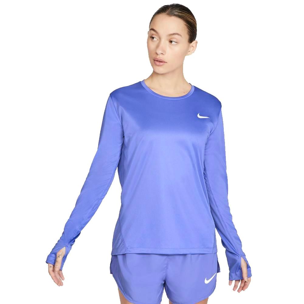 Nike Dry Miler Langermet Løpetrøye Dame Lilla