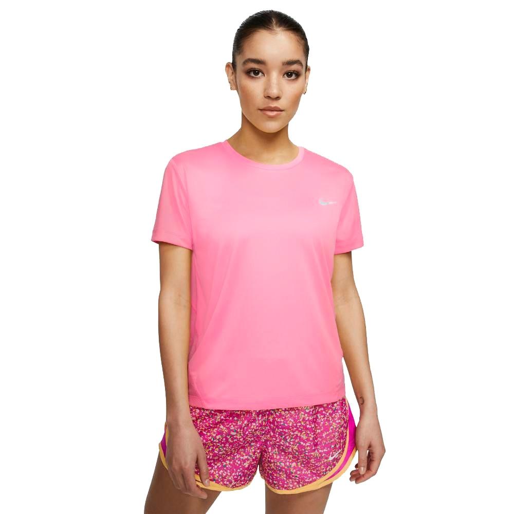 Nike Miler Løpetrøye Dame Rosa