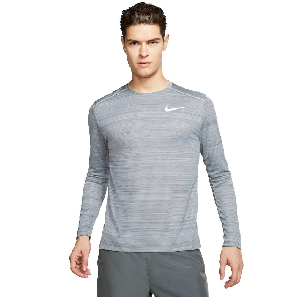 Nike Dry Miler Langermet Løpetrøye Herre Grå