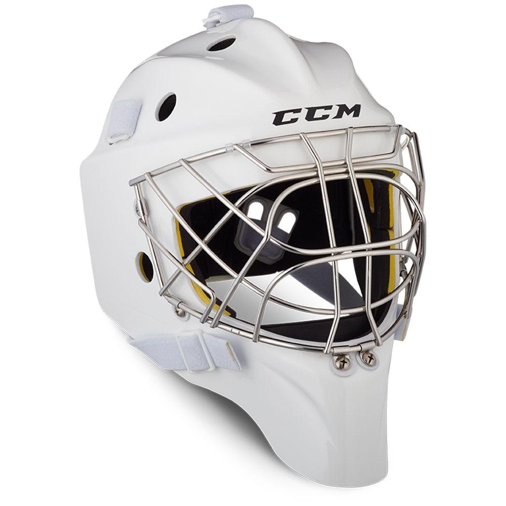 Ccm AXIS 1.5 Junior Keepermaske Hockey Certified Cat Eye Hvit