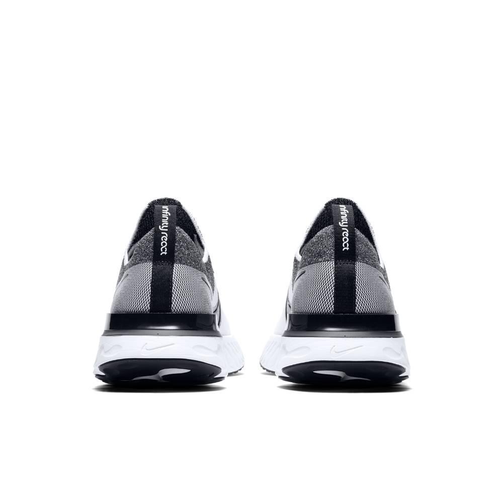 Nike React Infinity Run Flyknit Joggesko Hvit/Sort