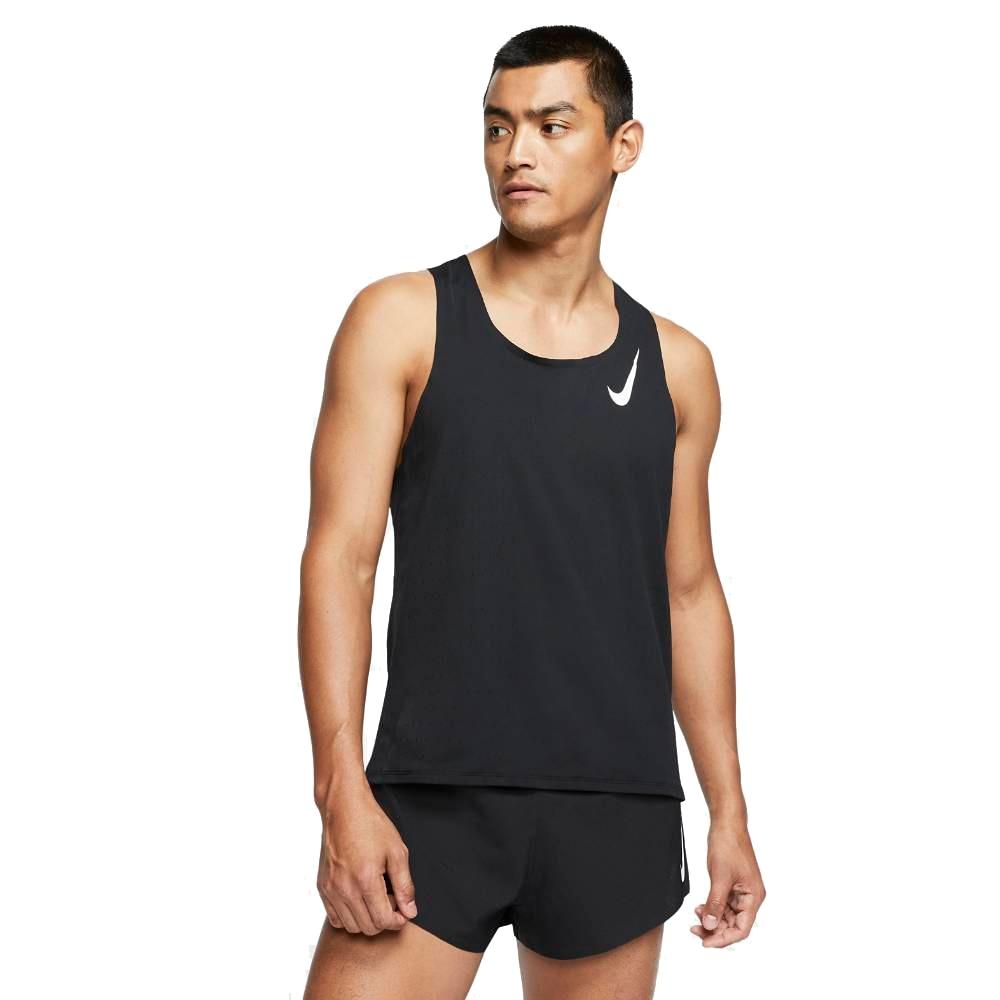 Nike Aeroswift Singlet Herre Sort