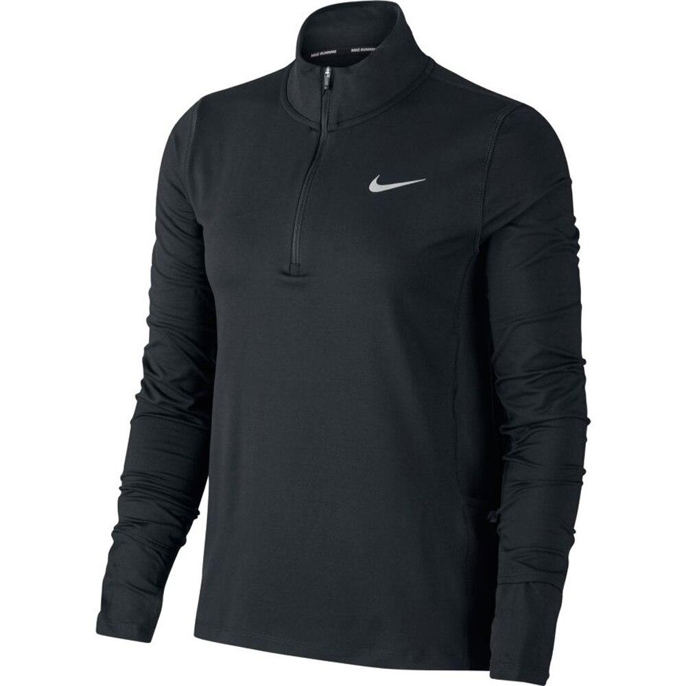 Nike Element Half-Zip Løpetrøye Dame Sort