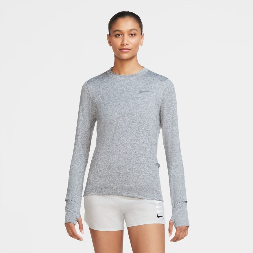 Nike Element Crew Langermet Treningstrøye Dame Grå