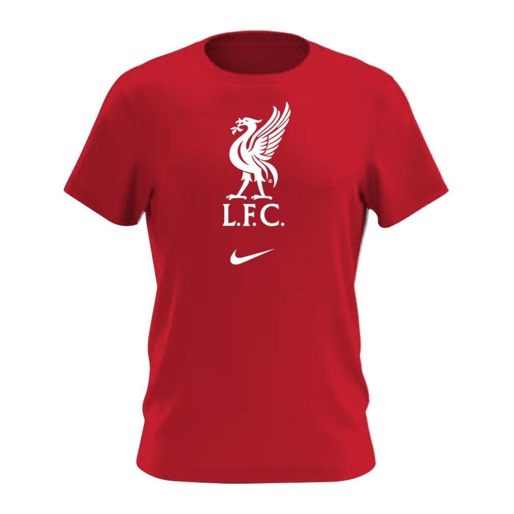 Nike Liverpool FC Evergreen Crest T-Skjorte 20/21 Rød Barn