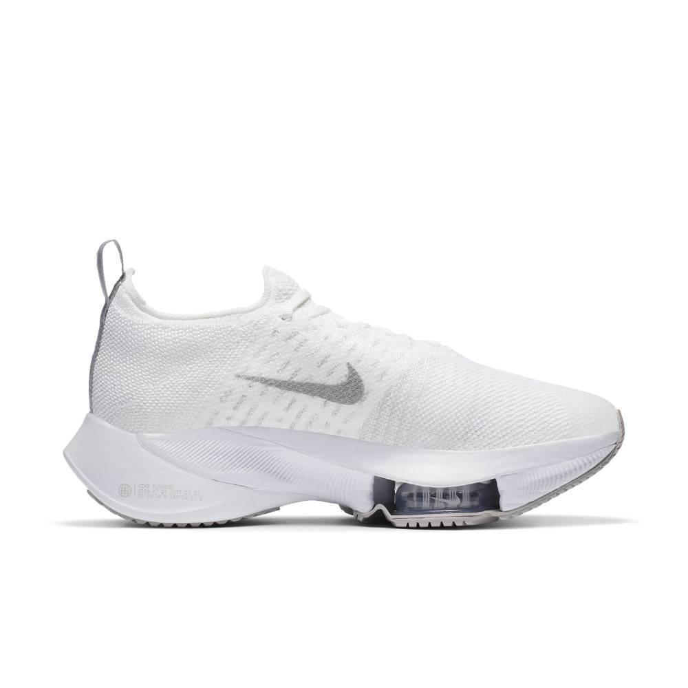 Nike Air Zoom Tempo Next% Flyknit Joggesko Dame Hvit