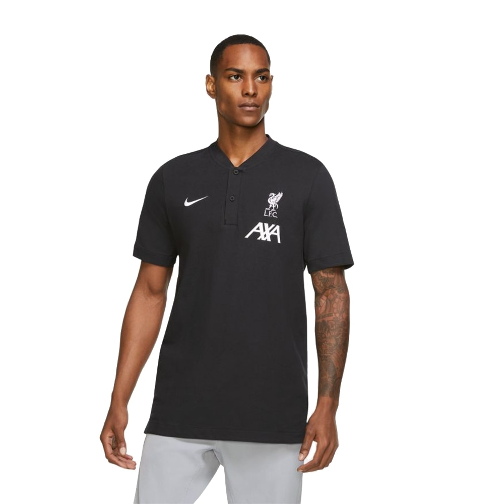 Nike Liverpool FC Authentic Polo T-Skjorte 20/21 Sort