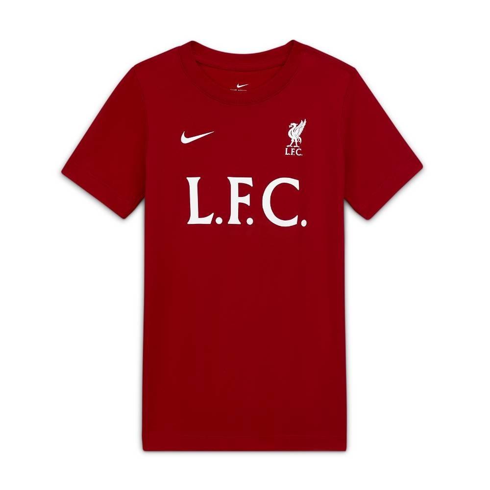 Nike Liverpool FC T-Skjorte 20/21 Rød Barn