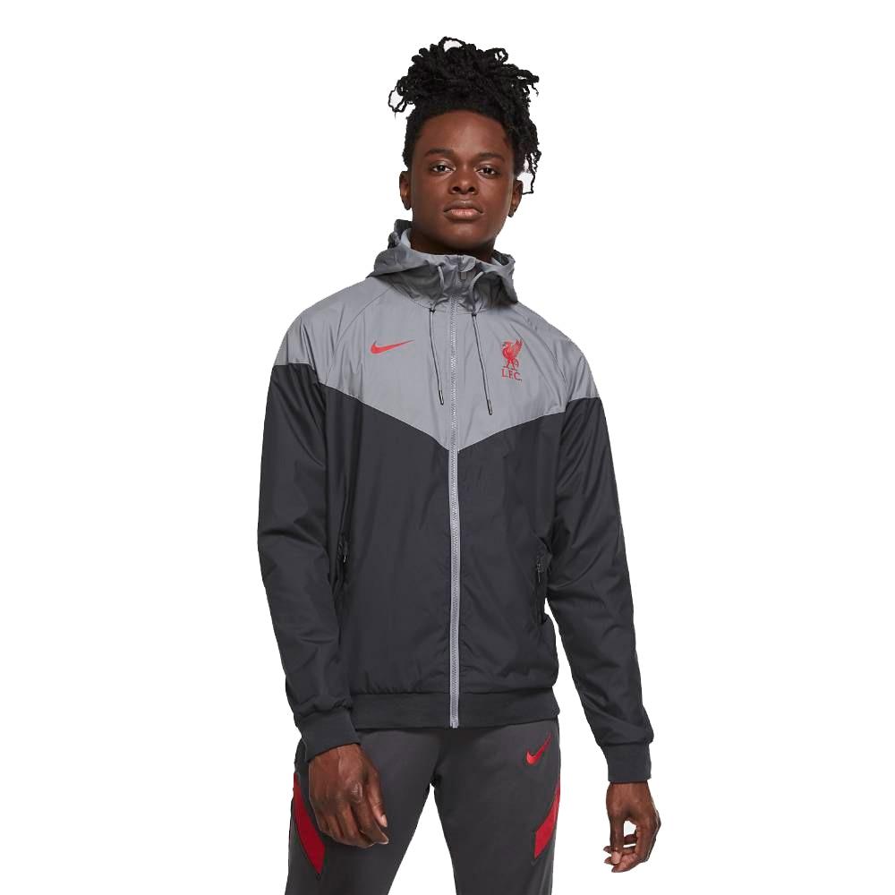 Nike Liverpool FC Authentic Woven Windrunner Fotballjakke 20/21 Sort