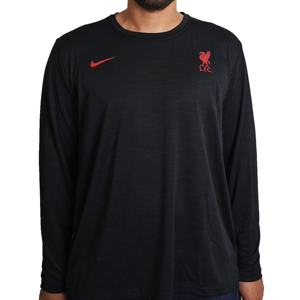 Nike Liverpool FC Dry Langermet Fotballtrøye 20/21 Sort
