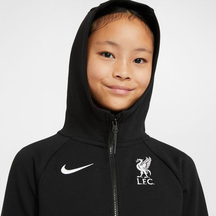 Nike Liverpool FC Tech Fleece FullZip Hettegenser 20/21 Barn Sort