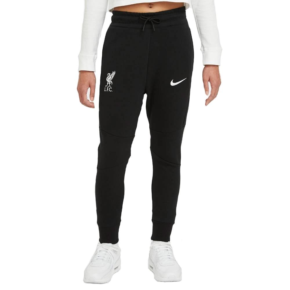 Nike Liverpool FC Tech Fleece Fritidsbukse 20/21 Barn Sort