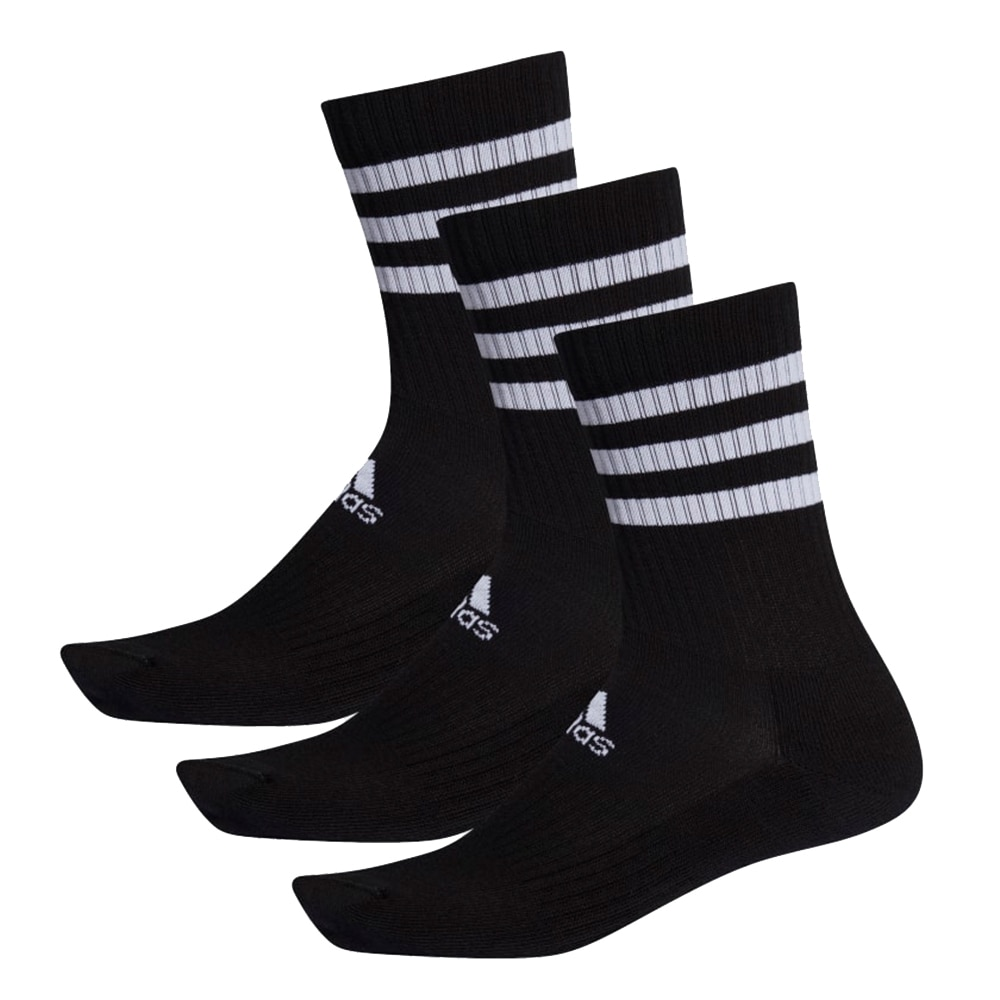 Adidas 3-Stripes Cushioned Crew Sokker Sort