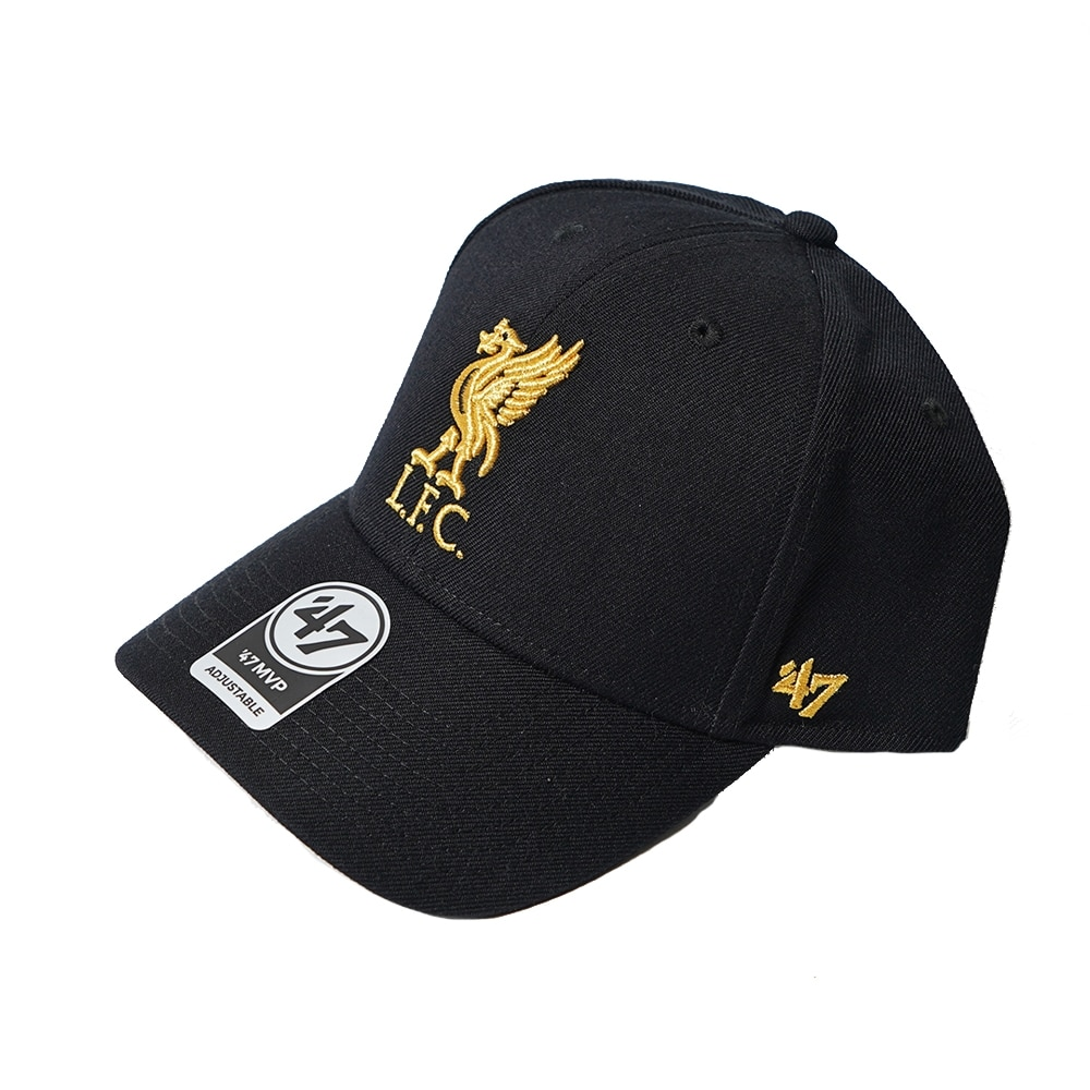 47 Liverpool FC Metallic Snapback Caps Sort/Gull