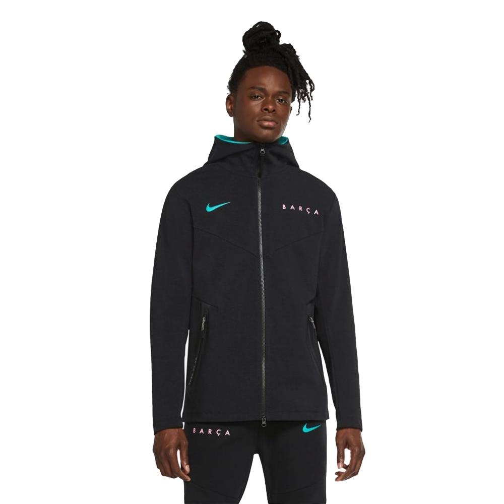 Nike FC Barcelona Tech Pack Hoodie Hettegenser 20/21 Sort