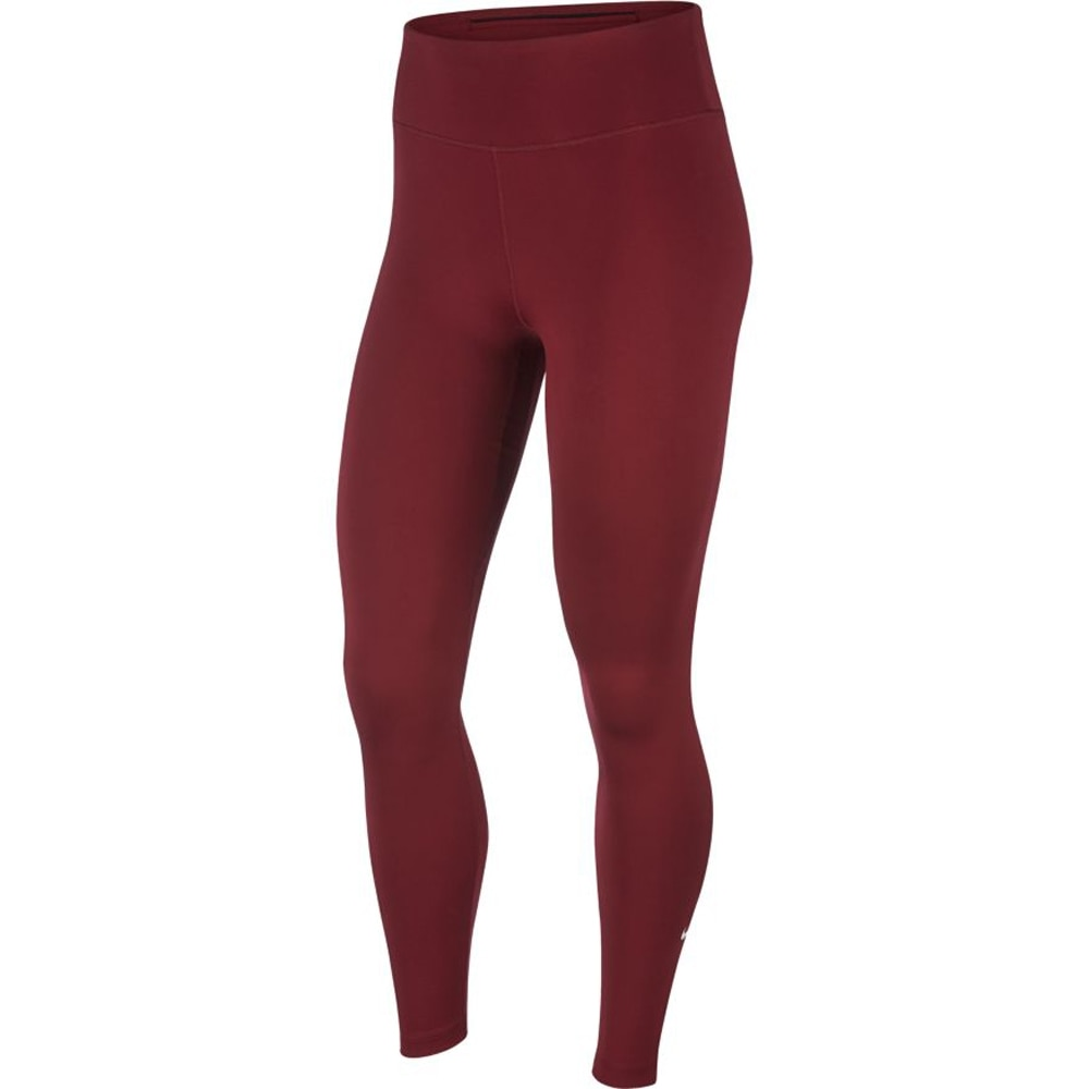 Nike One Tights Dame Burgunder
