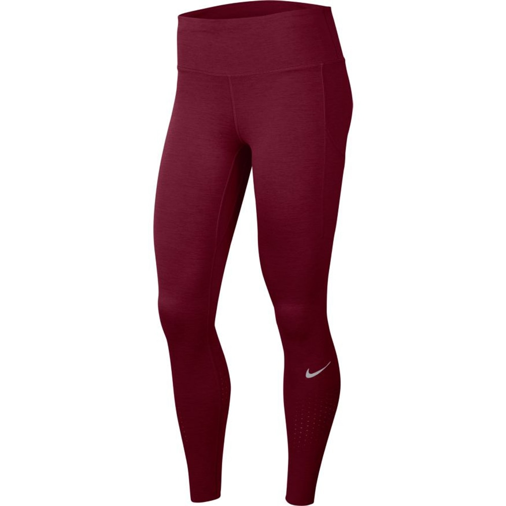 Nike Epic Lux Tights Dame Burgunder