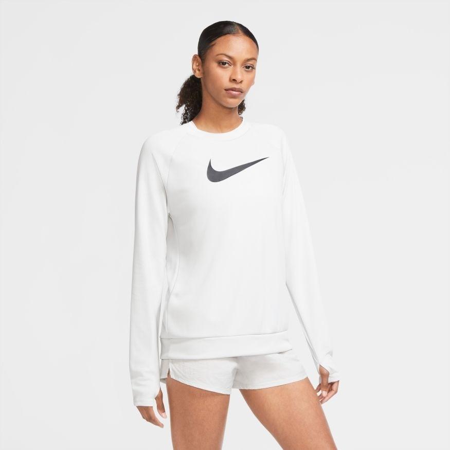 Nike Swoosh Run Crew Treningsgenser Grå