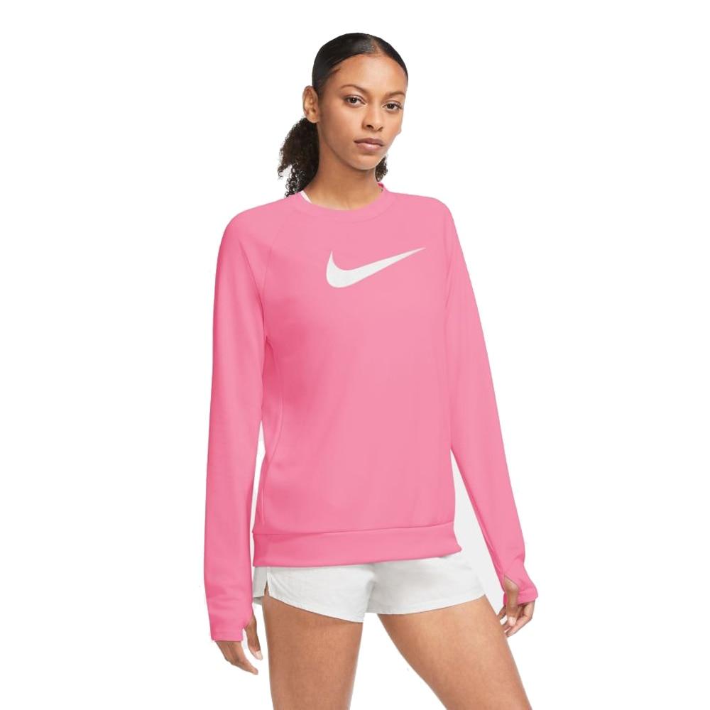Nike Swoosh Run Crew Treningsgenser Rosa