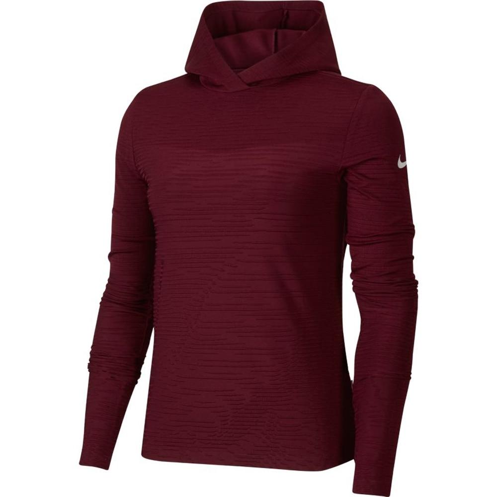 Nike Hoodie Runway Hettegenser Dame Burgunder